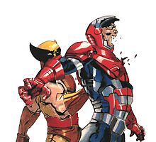 Daken Dark Wolverine and The Iron Patriot Norman Osborn Photographic Print