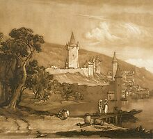 The Town of Thun by Bridgeman Art Library
