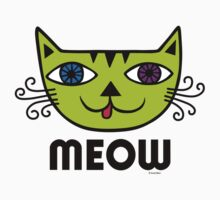Meow Cat multi Kids Clothes