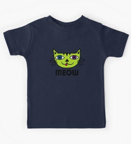Meow Cat multi Kids Clothes