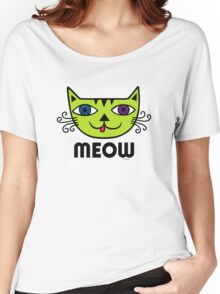 Meow Cat multi Women's Relaxed Fit T-Shirt