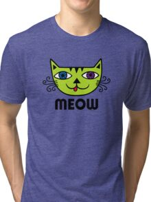 Meow Cat multi Tri-blend T-Shirt