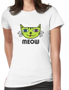 Meow Cat multi Womens Fitted T-Shirt