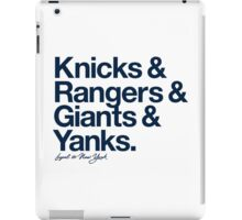 Loyal to New York (Navy Print) iPad Case/Skin