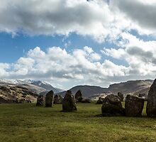 Sun On Castlerigg Stone Circle by Steven Dworak