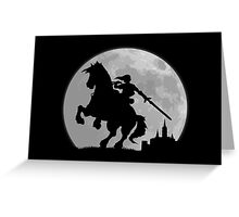 A Moonlight Ride Greeting Card