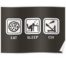 Eat, Sleep, Civ Poster