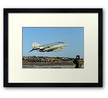 McDonnell F-4M Phantom FGR.2 XV495/N taking off on CAP Framed Print