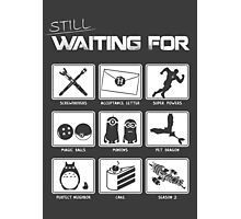 Still Waiting For... Photographic Print