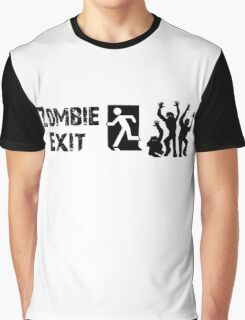 ZOMBIE EXIT SIGN by Zombie Ghetto Graphic T-Shirt
