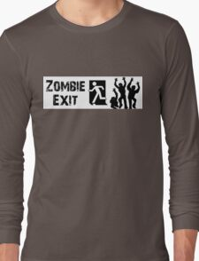 ZOMBIE EXIT SIGN by Zombie Ghetto Long Sleeve T-Shirt