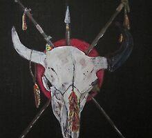 buffalo skull sacred Siouxotem by ravenart47