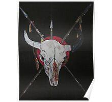 buffalo skull sacred Siouxotem Poster