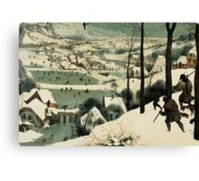 The Hunters in the Snow Canvas Print