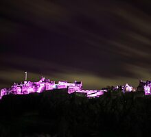 Edinburgh Castle Lit Up by Sue Fallon Photography