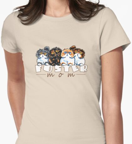 Foster Cat Mom Womens Fitted T-Shirt