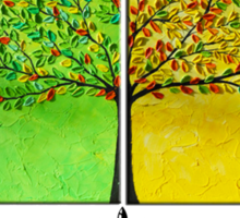 The colorful tree Sticker
