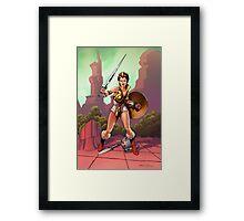 The Warrior Goddess Framed Print
