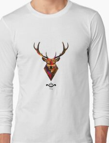 Abstract Deer Long Sleeve T-Shirt