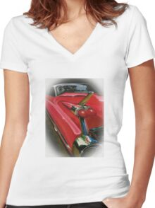 1959 Cadillac Women's Fitted V-Neck T-Shirt