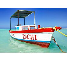 Colorful Fishing Boat of the Caribbean  Photographic Print