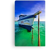 The Fishing Boat Roxanne of Aruba Canvas Print