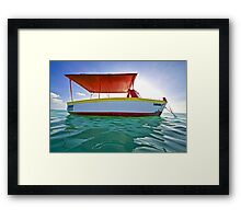 Fishing Boat Shomara of Aruba Framed Print