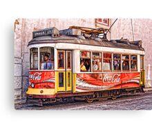 Electric Trolly of Lisbon Canvas Print