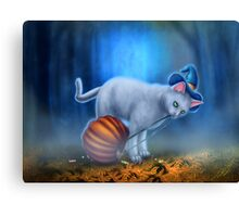 Candy Thief - Halloween Cat with Candy Canvas Print