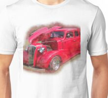 Red Antique Car.  Unisex T-Shirt