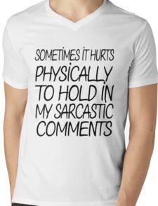 Sarcastic Comments Mens V-Neck T-Shirt