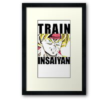 Bardock Trains Insaiyan Framed Print