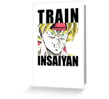 Bardock Trains Insaiyan Greeting Card