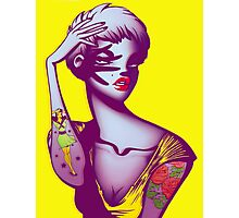 Tattoo Girl Photographic Print