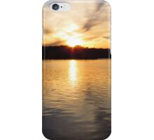 Winter Sunset on Chilhowee Lake iPhone Case/Skin