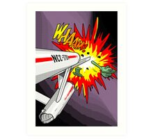 Lichtenstein Star Trek - Whaam! Art Print