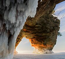 Ice and Fire, Apostle Islands, WI by Michael Treloar