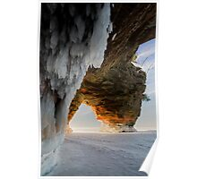 Ice and Fire, Apostle Islands, WI Poster