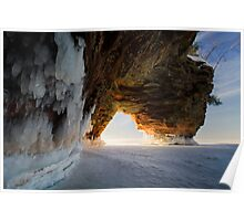 Fire and Ice, Apostle Islands, WI Poster
