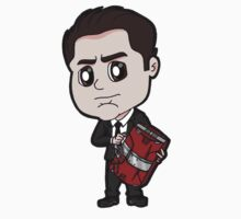 "IM2 - Harold ""Happy"" Hogan with Mark V Briefcase Chibi by Zphal"