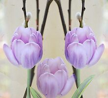 Pastel Spring Tulips by walstraasart