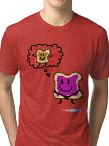 Jelly Thinking About PB Tri-blend T-Shirt