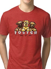 Foster Dog Mom Tri-blend T-Shirt