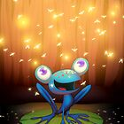 the Frog and Lightbugs by ricardojurado