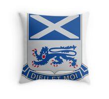 156th Infantry Regiment - Dieu Et Moi - God And I Throw Pillow