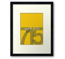 Hank Aaron 715 Framed Print