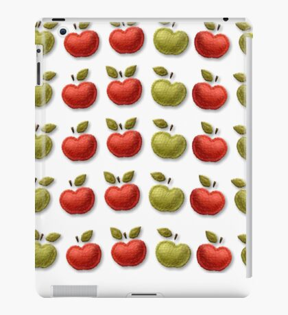 Green red quilted apples design iPad Case/Skin