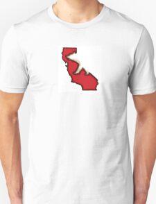 Red artistic California bear design Unisex T-Shirt