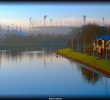 Melbourne Yarra in the Morning by Andrew Wilson