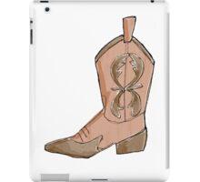 Brown artistic cowboy boot iPad Case/Skin